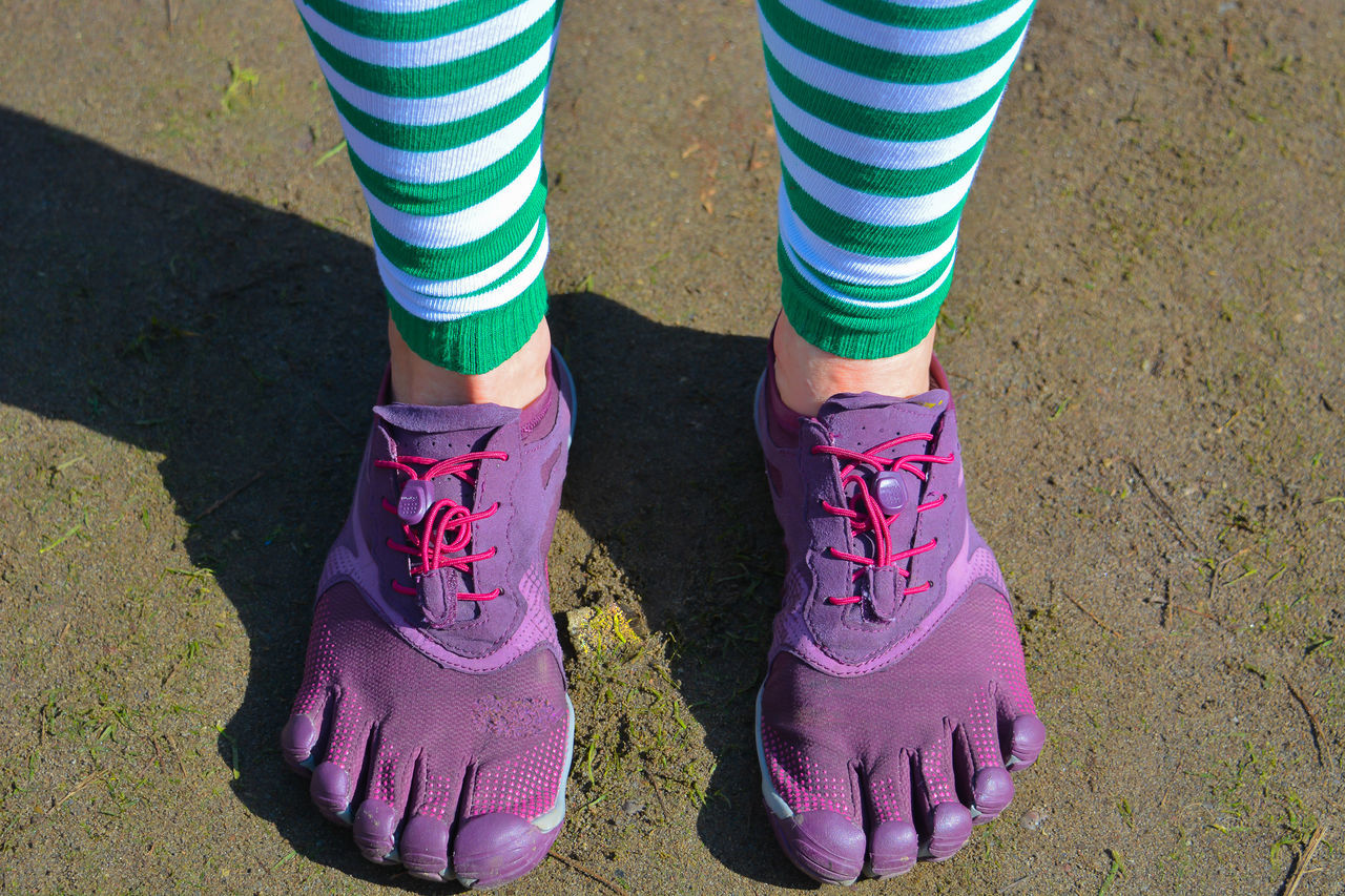 Adult Adults Only Close-up Day Feets Grass High Angle View Human Body Part Low Section One Person One Woman Only Only Women Outdoors People Pink Color Running Shoes St Patrick's Day Women