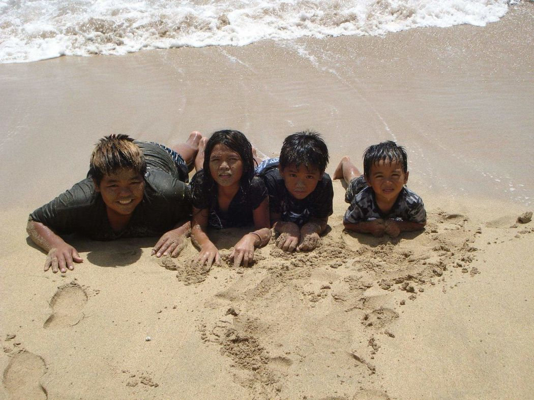 Youth Of Today Maui Hawaii Ukumehame Beach West Maui Sandy Faces Water Meets The Sand Laughter Fun In The Sun Pacific Ocean Valley Isle Island Life Island Living Maui Nokaoi Siblings Love Live Aloha Ohana Means Family