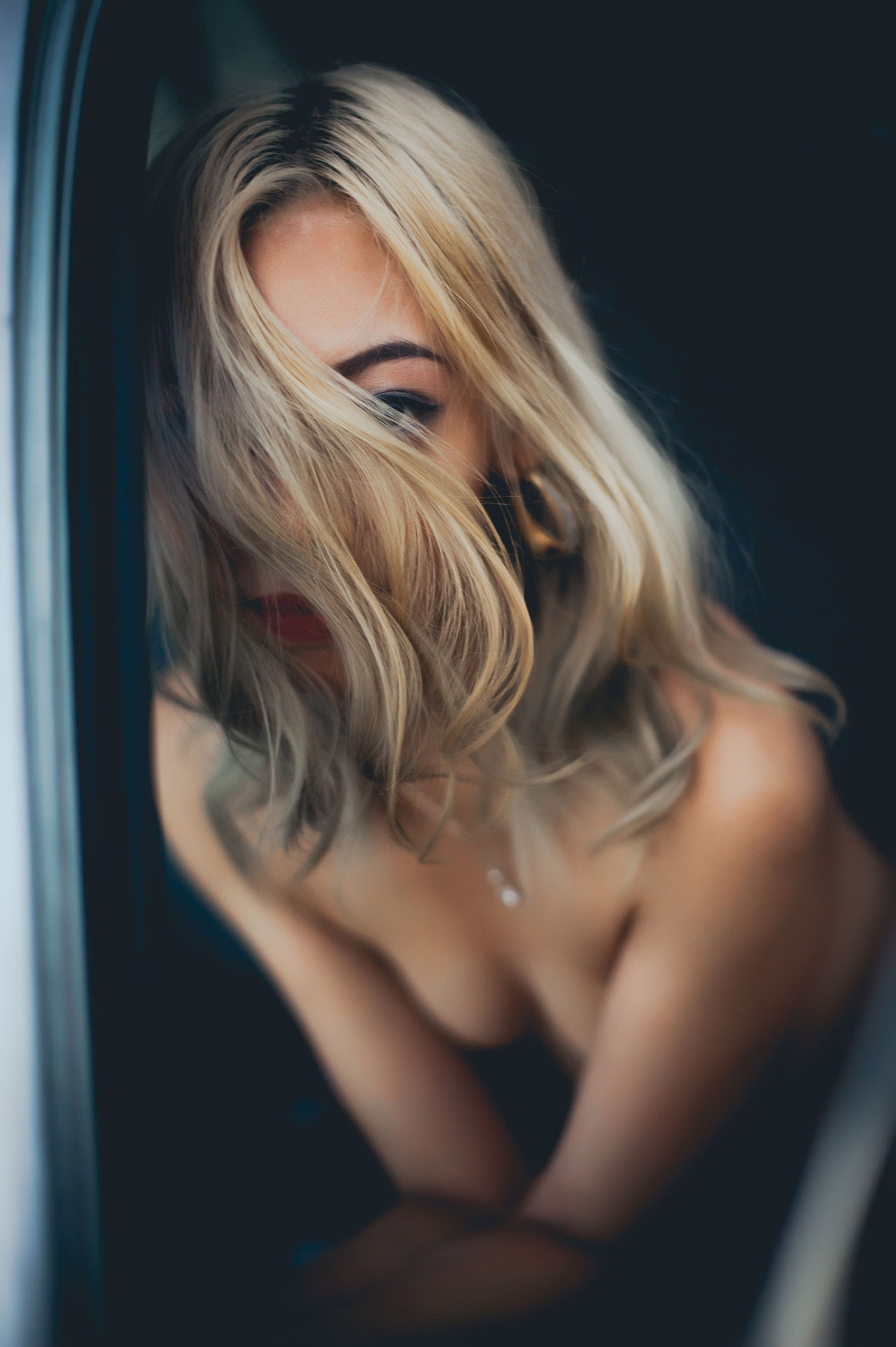 Beautiful Woman Blond Hair Close-up Day Indoors  One Person People Real People The Portraitist - 2017 EyeEm Awards Young Adult Young Women
