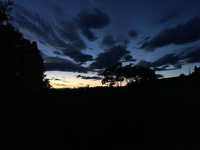 Silhouette Sky Dark Tranquil Scene Nature Beauty In Nature Tree Sunset Cloud - Sky Scenics No People Tranquility Outdoors Day