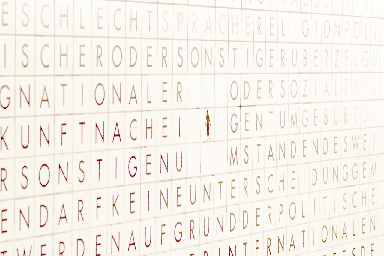 Backgrounds Close-up Full Frame In A Row Indoors  No People Subway Station Text Tiles Wall Westhafen Writing On The Walls