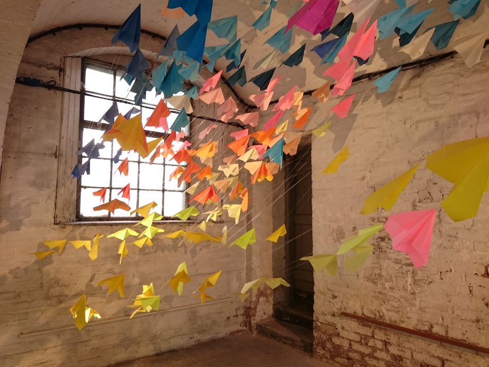Multi Colored Window No People Indoors  Art And Craft Paperplanes
