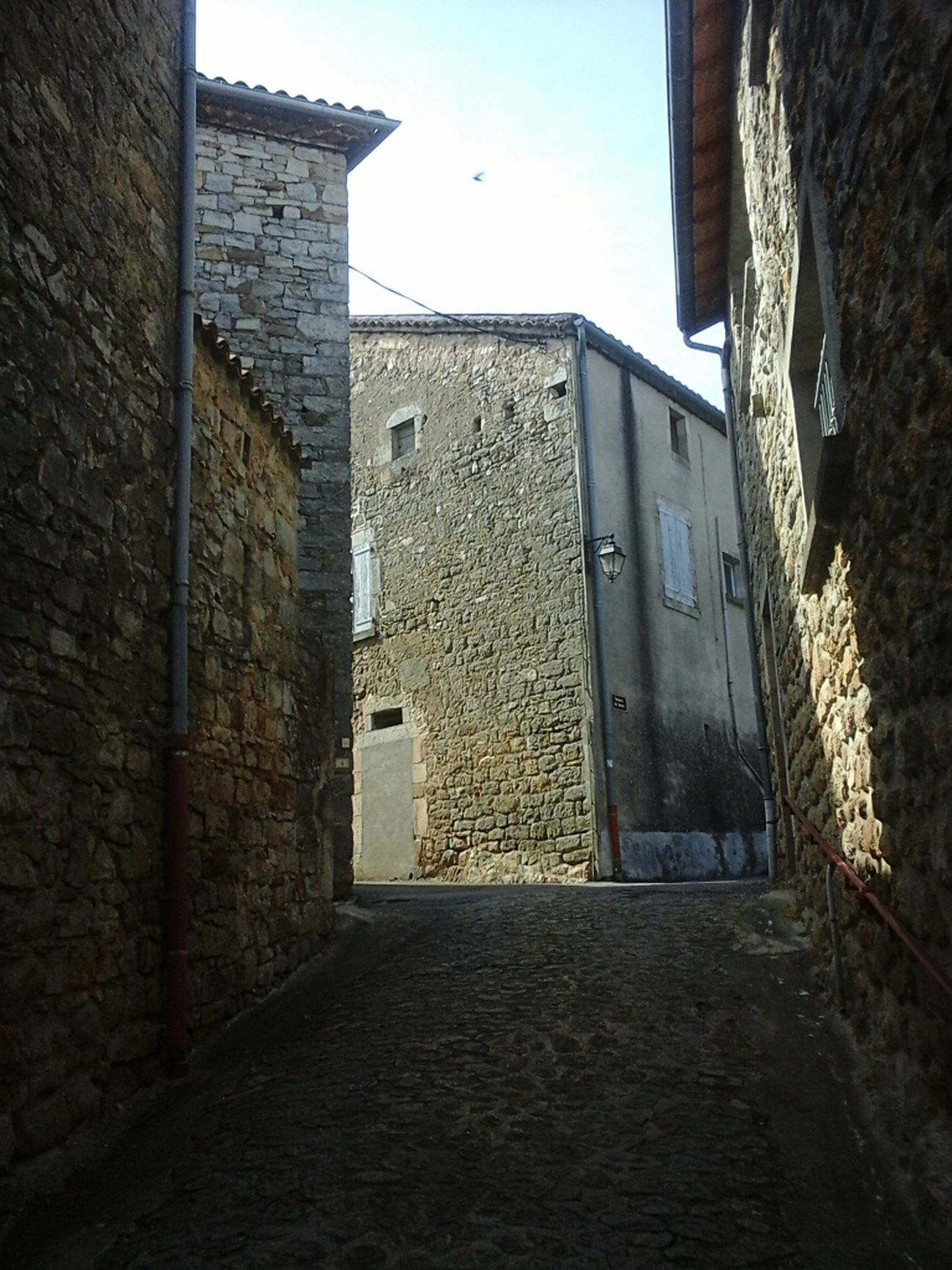 Light And Shadow Old Village Ardeche France