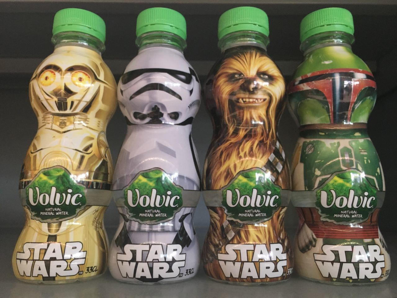 Limited Edition Volvic Mineral Water~ Star Wars Collection...x Starwars Star Wars Limited Limitededition First Eyeem Photo Water Mineral Mineral Water Fan Collection Storm Trooper Chewbacca Volvic Bobafett C3po