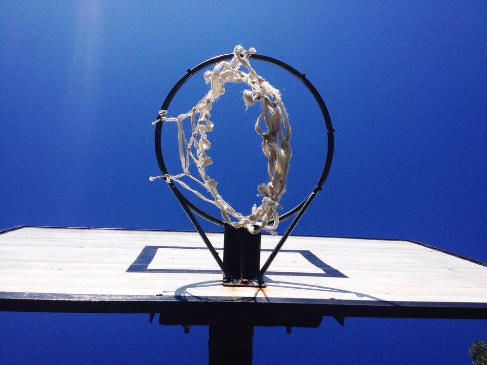 Beautiful stock photos of basketball, Basketball - Sport, Basketball Hoop, Blue, Circle