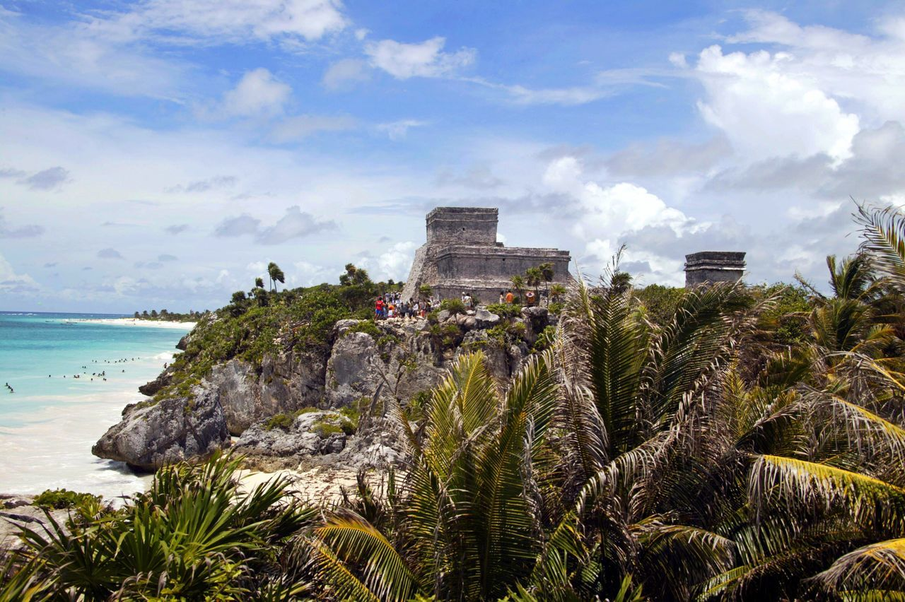 Tulum, mexico Sky Nature Sea No People Growth Architecture Outdoors Water Day Beauty In Nature Tree Tulum, Mexico Tulum Tulum , Rivera Maya. Mexico Eye4photography  From My Point Of View Travelling Travel Destinations Travel Photography
