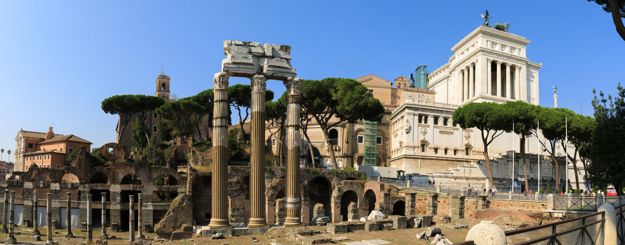 Old alters, new alters of Rome Ancient Ancient Architecture Ancient Civilization Architecture Blue Building Exterior Built Structure Canon Canon 5d Mark Iv Clear Sky Façade Forum Forum Romanum Rome Tourism Travel Destinations Vittoriano