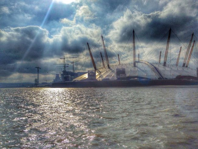 Waterfront Transportation Nautical Vessel Mode Of Transport Scenics Sky Day London Thames River Thames Clipper O2 Arena