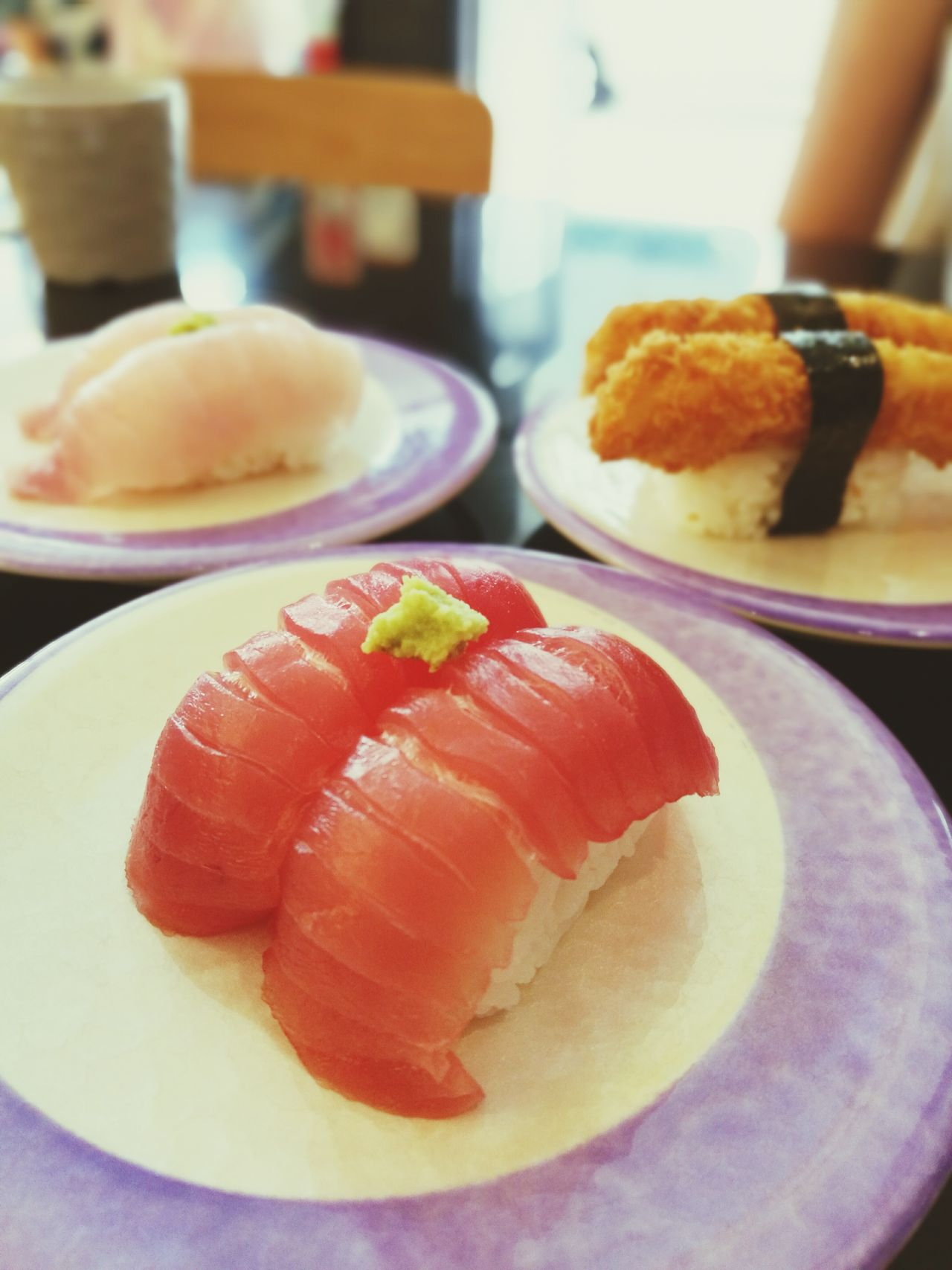 Sushi train Japanese Food Sushi Time Sushi Sushilover Freshness Plate Food