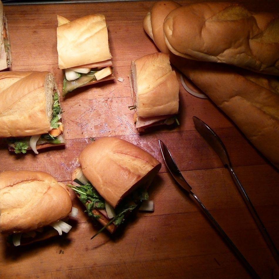 Breakfast Baguette Sandwich Food Photography