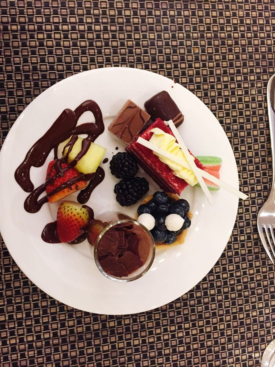 What's For Dinner? Desert Chocolate Indulgence Sweet Salty Fruit Yummy Good Times Eat More Fruit