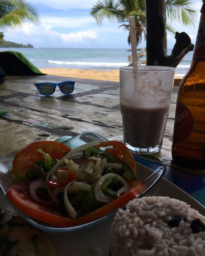 Lunch Milkshake Beer Balboa Palm Tree View Riceball Fish Sea Beach Food And Drink Healthy Eating Drink Food Nature Outdoors Perfect View Beach Life Caribbean Sea Caribbean Bocas Del Toro Lunch Time! Panamá Central America Visual Feast