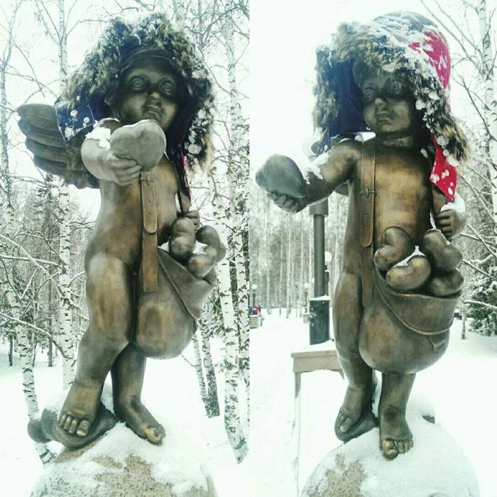 Возьми мое сердце 💙 ангел сердце почтальон почтароссии Angel Cupid Heart Sculpture