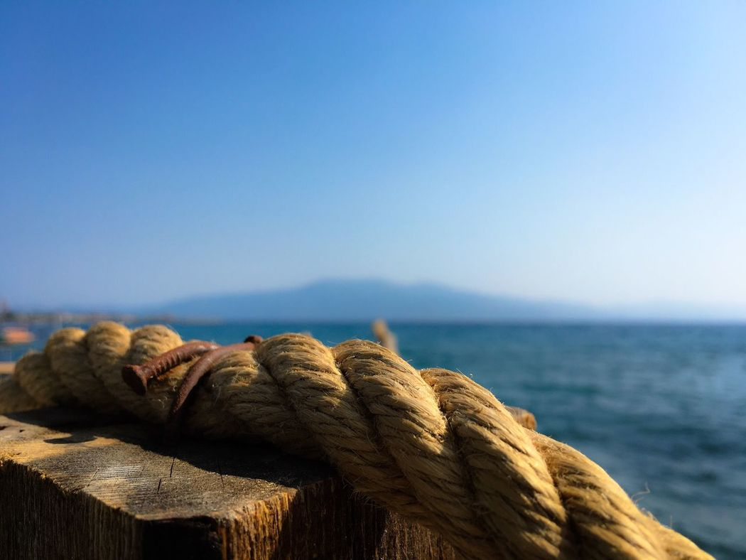 Rope Sea And Sky Marine The Great Outdoors - 2016 EyeEm Awards The Roll Marine Life Mountains Hidden Gems  Colour Of Life EyeEm Nature Lover Eye4photography  Tranquility Traveling Bokeh Sivrice , Assos , Turkey What's On The Roll TakeoverContrast Dramatic Angles Sommergefühle EyeEm Selects Premium Collection