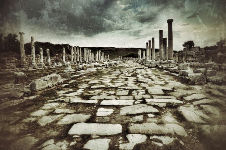 Ancient Historical Sights Ancient City Historical Perge
