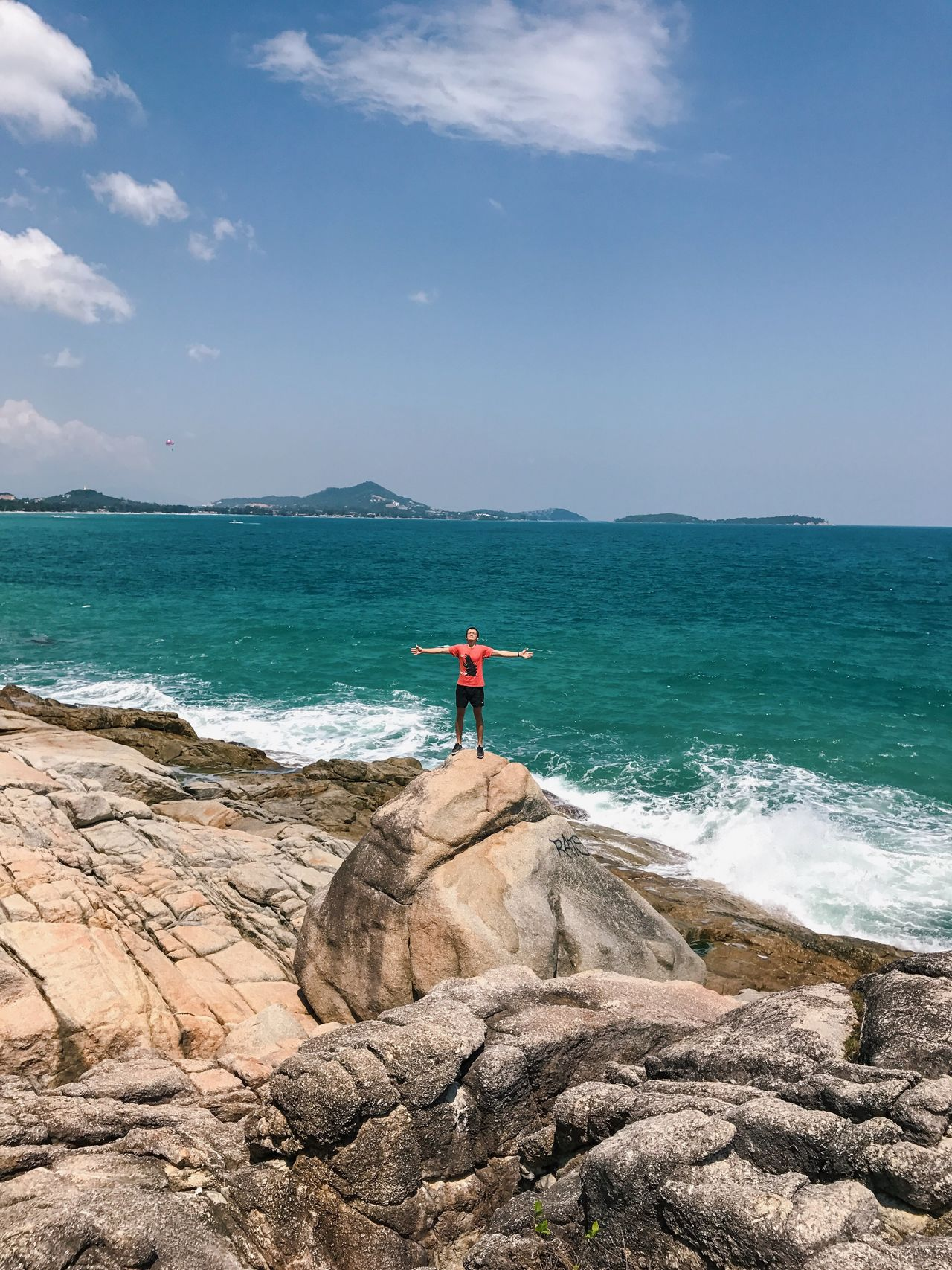 Adult Adults Only Adventure Athleisure Beach Beauty In Nature Climbing Cloud - Sky Day Full Length Healthy Lifestyle Mid Adult Nature One Man Only One Person Only Men Outdoors People Scenics Sea Sky Sport Tourism Travel Destinations Vacations