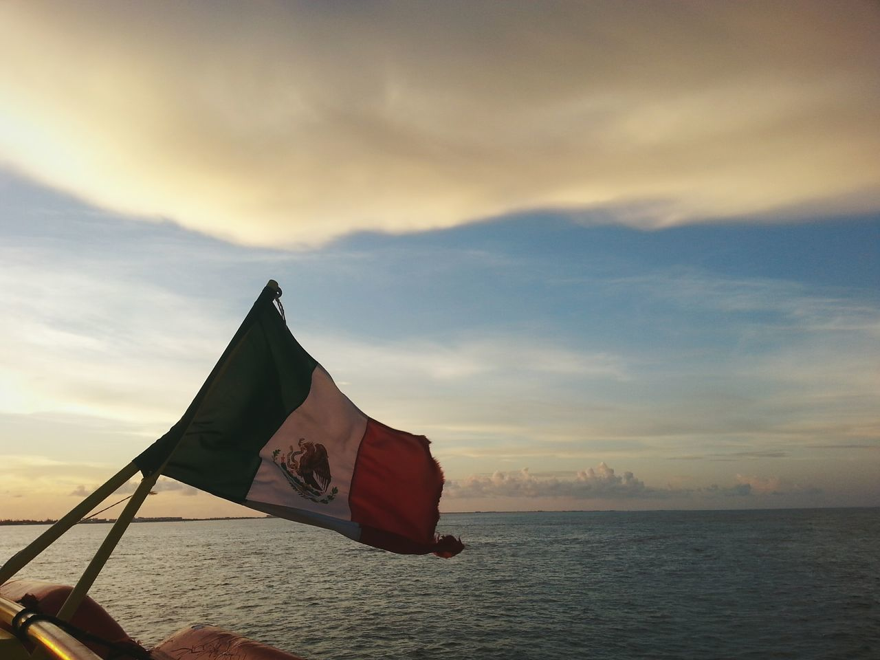 Beautiful stock photos of mexican flag, Beauty In Nature, Boat, Cloud - Sky, Cloudy