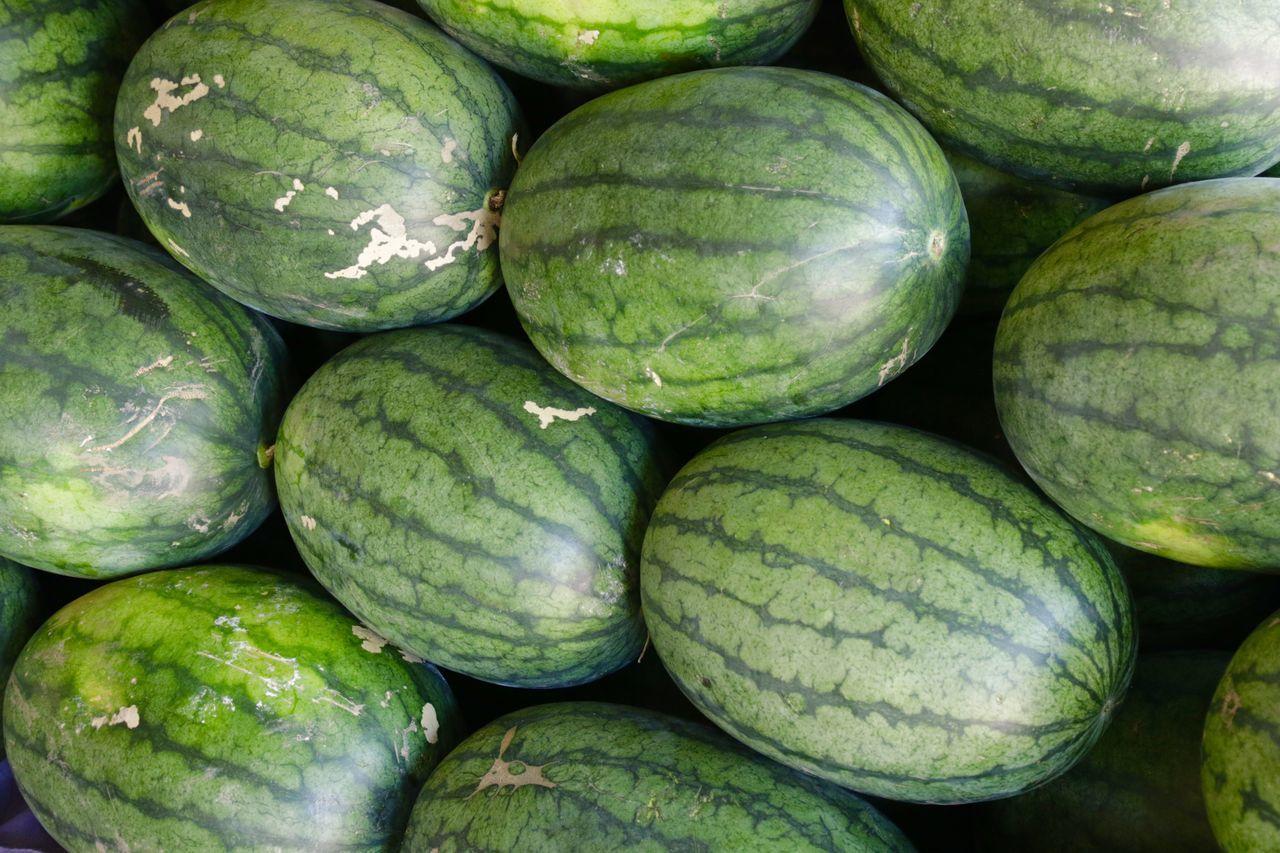 Full Frame Shot Of Watermelons Market