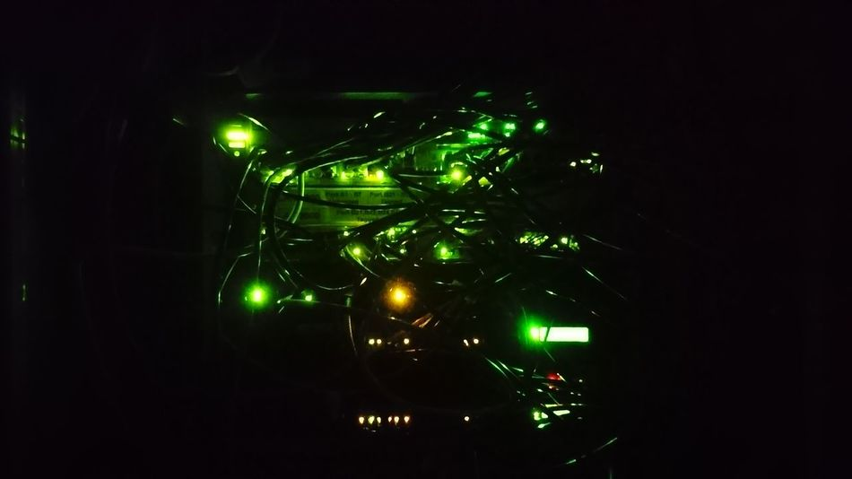 Clearly Borg. nofilternoedit Startrek Server Green Color Studio Shot Illuminated Black Background No People Night Tree Indoors  Star - Space Astronomy