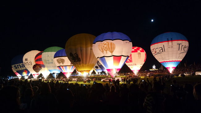 Overnight Success Balloons Balloonfiesta  Illuminated Night Lantern Colorful Nightlife Event Enjoyment Multi Colored Nofilter