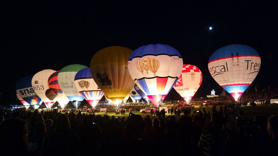 Overnight Success Balloons Balloonfiesta  Illuminated Night Lantern Colorful Nightlife Event Enjoyment Multi Colored Nofilter