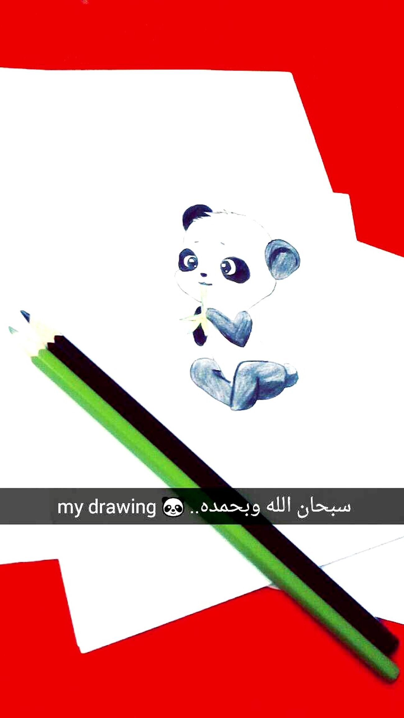 MyDrawing Cute Beutiful Cute♡ رسمتي 🐼✏😍