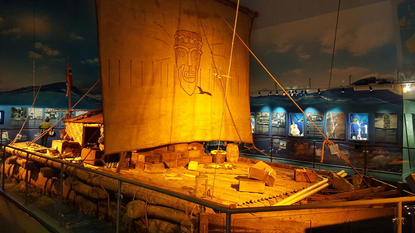 The Kon-Tiki Museum (Norwegian: Kon-Tiki Museet) is a museum in the Bygdøy peninsula in Oslo, Norway. It houses vessels and maps from the Kon-Tiki expedition, as well as a library with about 8000 books. It was opened in a provisional building in 1949. In 1957, the current building—designed by architects F. S. Platou and Otto Torgersen—was opened. In 1978, an extension of the museum designed by Torgersen was opened. The museum was originally built to house the Kon-Tiki, a raft of balsa wood of pre-Columbian model that Norwegian adventurer Thor Heyerdahl used to sail from Peru to Polynesia in 1947. Another boat in the museum is the Ra II, a vessel built of reeds according to Heyerdahl's perception of an ancient Egyptian seagoing boat. Heyerdahl sailed the Ra II from North Africa to the Caribbean after a previous attempt with the reed boat Ra failed. The Kon-Tiki Museum is situated near several other museums, including the Fram Museum; the Norwegian Museum of Cultural History; the Viking Ship Museum; and the Norwegian Maritime Museum. Adventure Balsa Balsa Wood Bygdøy Eye4photography  EyeEm Best Shots EyeEm Gallery EyeEmBestPics Getting Inspired Hidden Gems  Kon-Tiki Museum Kon-Tiki: Your Adventure Kontiki Museet Museum Museums Peru Polynesia Ra II Scandinavia The Purist (no Edit, No Filter) Wood Wood - Material Wooden Wooden Boat