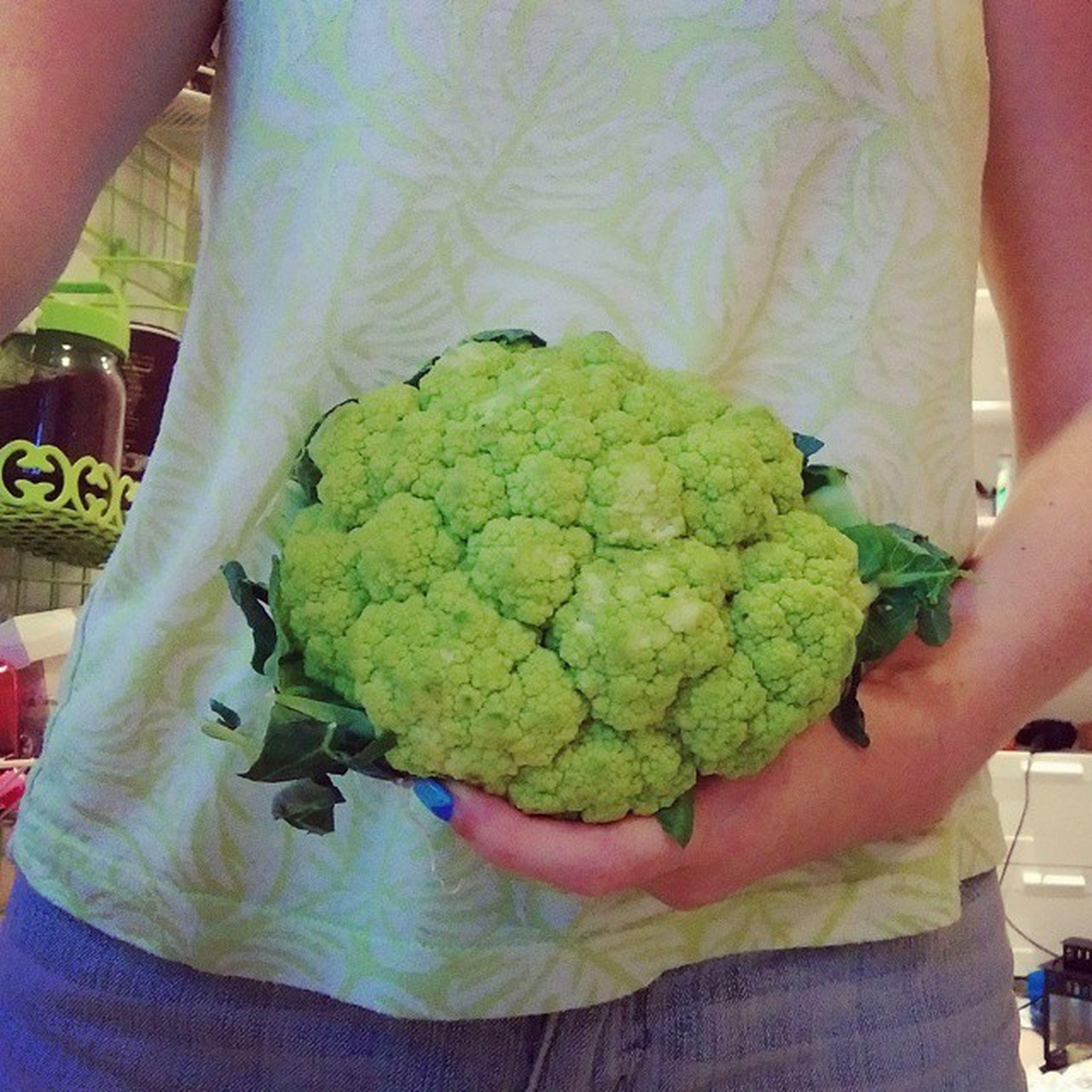 A beautiful Bouquet of Broccoliflower Broccoli Cauliflower Hybrid Greencauliflower Vegetables Greens Fitforabride Healthy Fresh