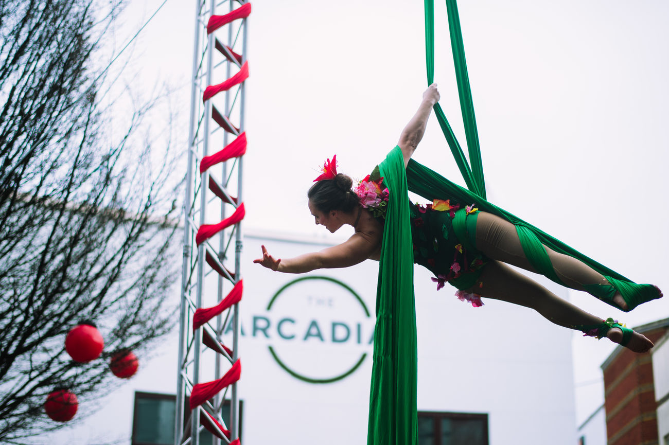 Acrobat Athlete Confidence  Day Flexible Full Length Hanging Motion One Person Outdoors People Performance Red Skill