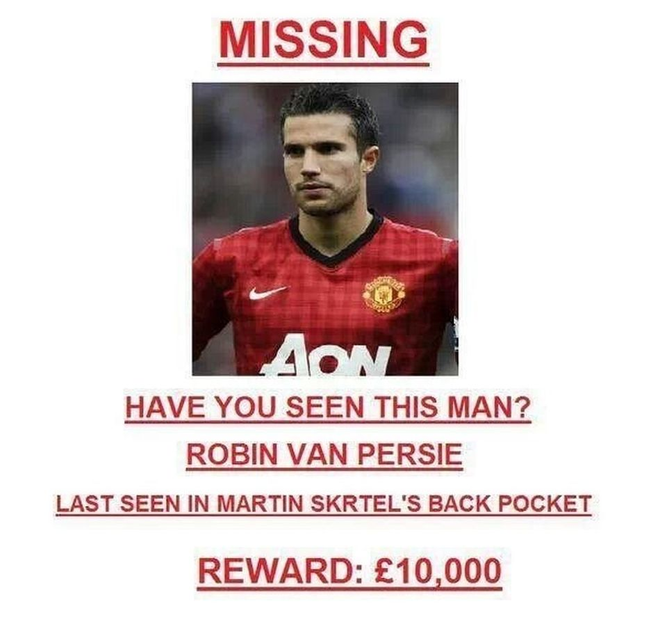 Soccer Liverpool Anfield RVP missing in action
