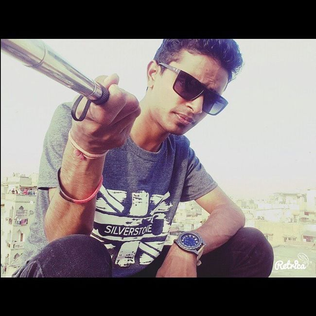 Me Uttarayanfun Sunglasse Chill kites sky selfietym selfiestick adaytocherish VISH ?? If u constantly think of how to look better,chill.No one cares.We are too busy looking at ourselves to give a shit..!!