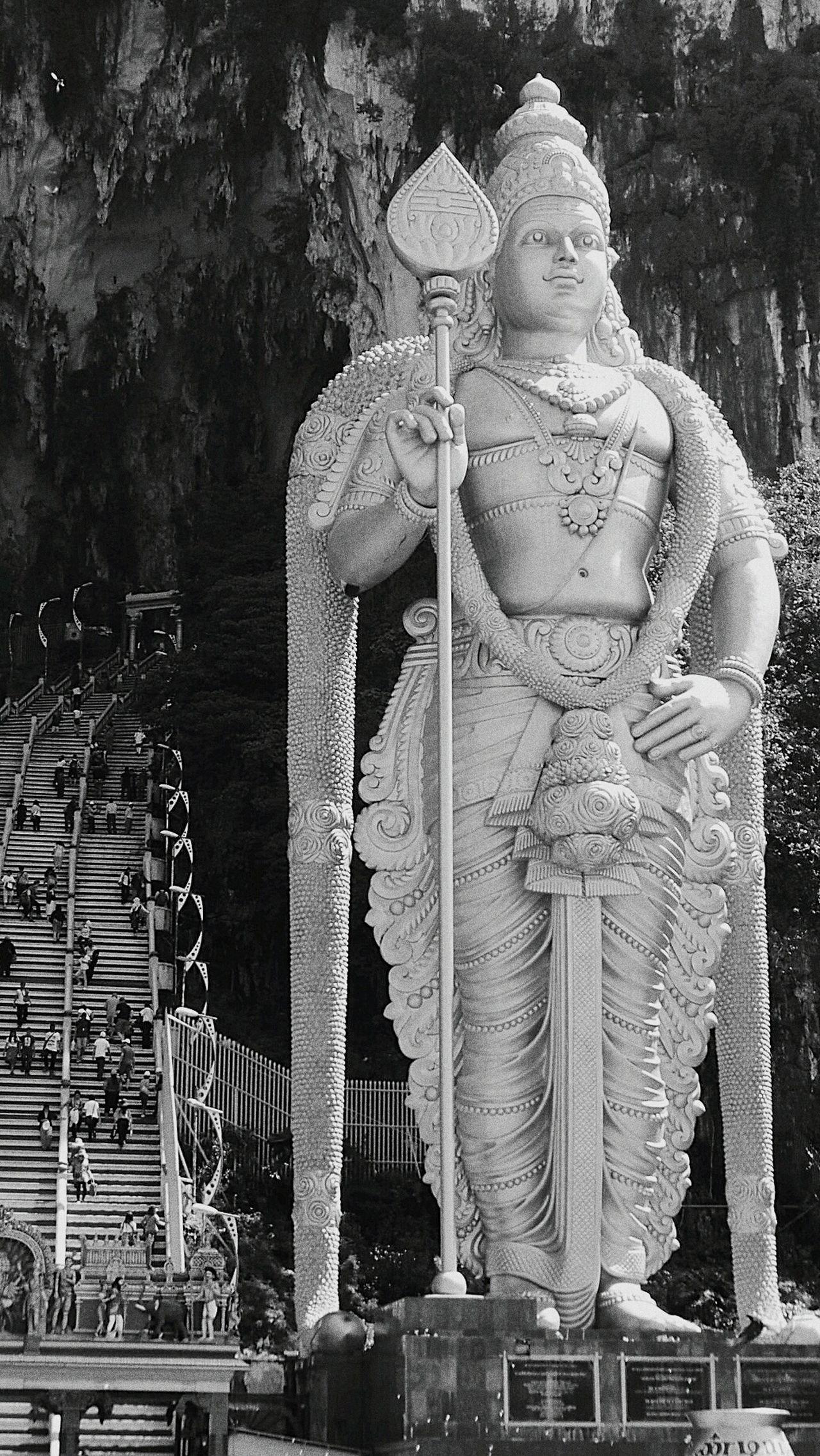 Malaysia Kuala Lumpur Malaysia  Batucaves Batu Caves Monochrome Hindu Temple Statue Batu Caves -Malaysia Malasia