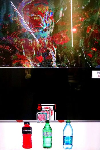 Glitch on a vending machine Colorful Abstract Machine Technology