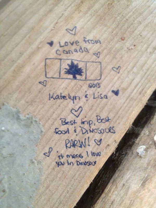 Writing On The Walls London Jamie Oliver Restaurant Piccadilly Circus Pop-up Diner T-rex Dinosaur Yummy I Been There Katelyn Rose Want To Go Back Rawr!