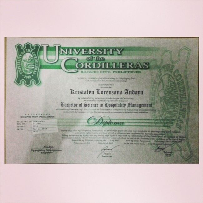After 1 month and 1 week, here it is! :) My Diploma :) Day3part1
