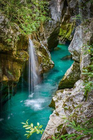 Soča river Soca River Slovenia River Velika Korita Bovec