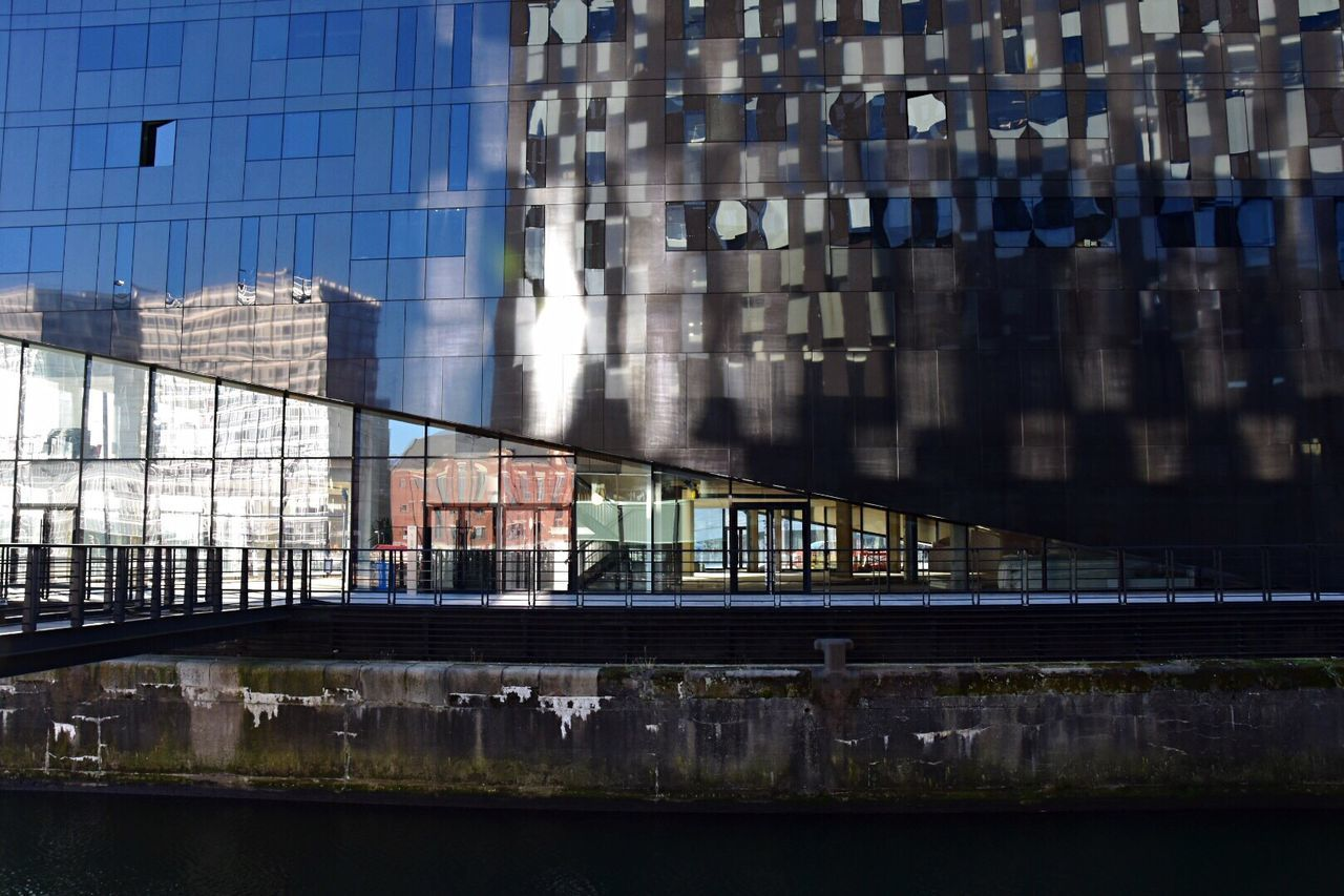 Architectural reflections. My Year My View Reflection Built Structure Architecture Building Exterior City No People Office Building Exterior Outdoors Day Illuminated Skyscraper Sky EyeEm Best Shots Reflections And Shadows Getty X EyeEm Building Reflections Architecture EyeEm Gallery Modern Architecture Water Reflections Eye4photography  Building Story EyeEm Masterclass in Liverpool