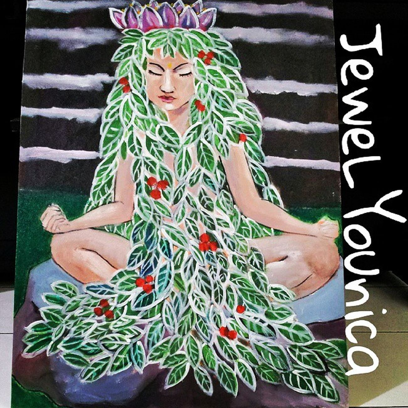 Finished! But still need Final Touched! ;) NaTuRaL NaMaSTe GiRL ;) ♥ Art ArtWork Artist Artists Contemporaryart Contemporary Paint Painting Painter WorkOfArt Followart Lotus Flowers Flower Girl Natural Namaste Meditation Yoga Namastegirl Nature Leaf Acrylic Acrylics Acrylicpainting  instaart instaartist large largepainting 80 x 60 cm. For sale