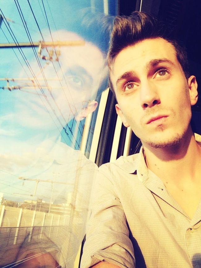 Traveling Gay Sunset Train