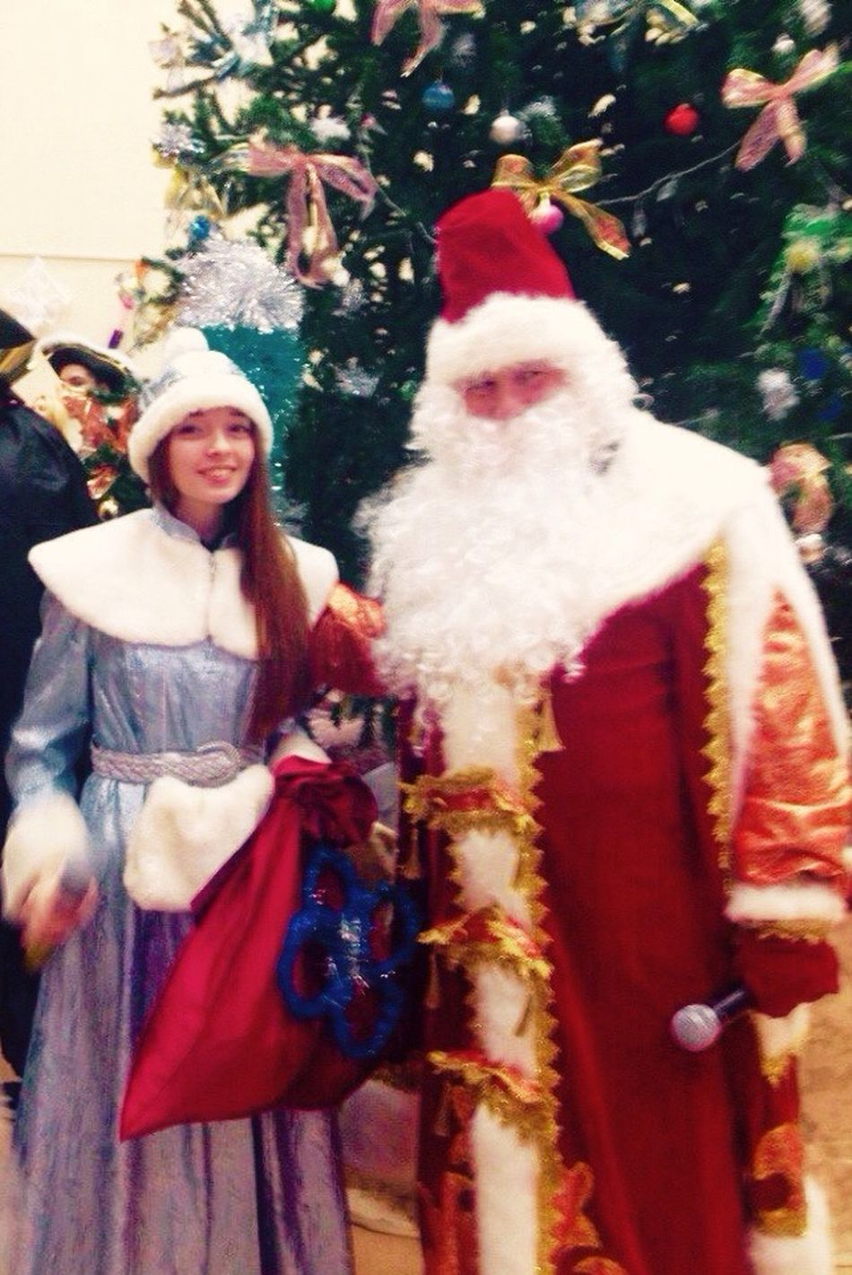 Happy New Years  That's Me New Year 2015 Santa Claus And Snow-Maiden Snow Maiden