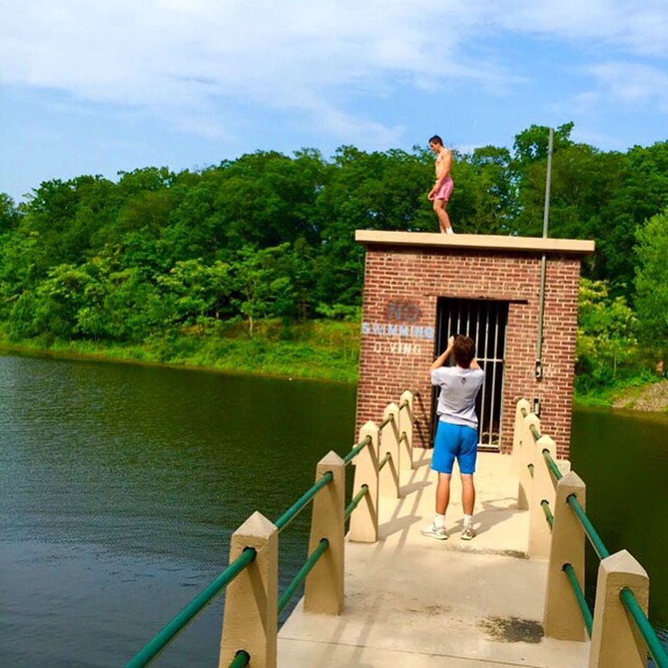 Water CliffJumping Jumping Tower Nature Summer Tranquility Person First Eyeem Photo People And Places People And Places.