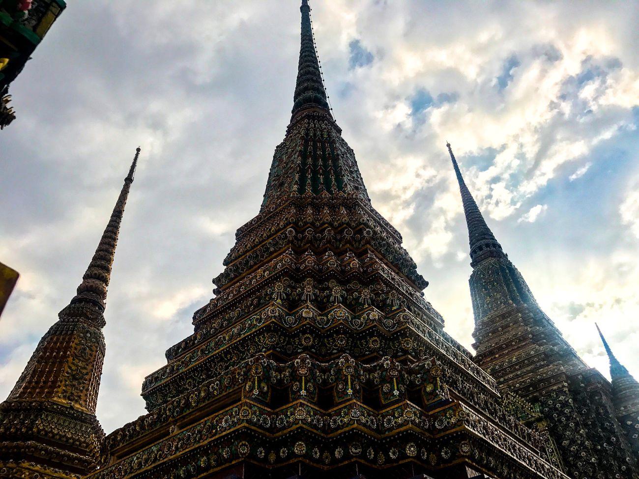 สามกษัตริย์ Architecture Religion Sky Cloud - Sky No People Lightroom EyeEm Thailand Lightroom Mobile IPhone7Plus Photo By IPhone7plus Wat Pho Taksina S. Bangkok Outdoors King King Of Thailand