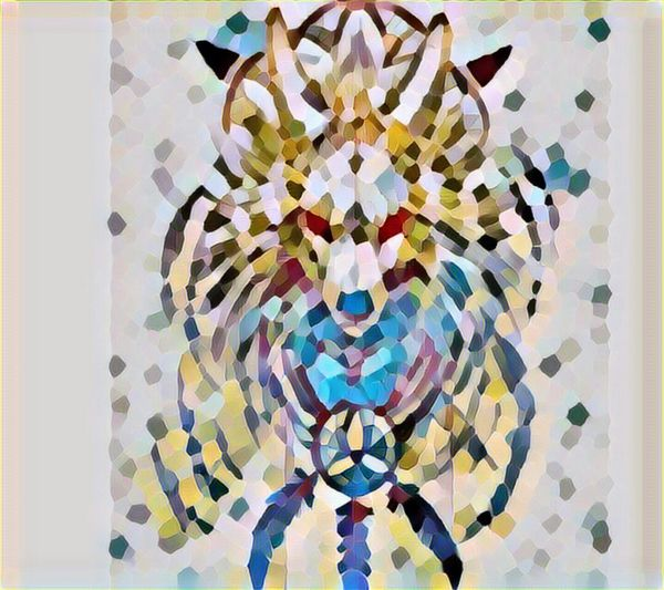 Filter Fun Filterphotography Filters Filtered Image Filter Old Photos Tribal Wolf Tribal Art Wolf Art Yet another old photo exposed to a very cool mosaic filter.