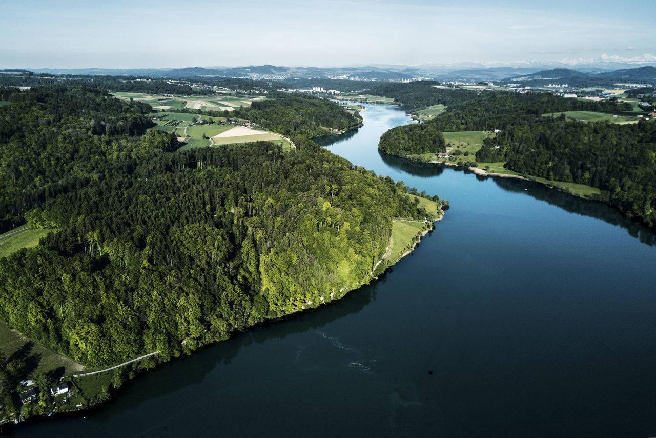 Aerial View Beauty In Nature Dronephotography Landscape Nature Outdoors River Scenics Tranquil Scene Tree Water Wohlensee The Great Outdoors - 2017 EyeEm Awards
