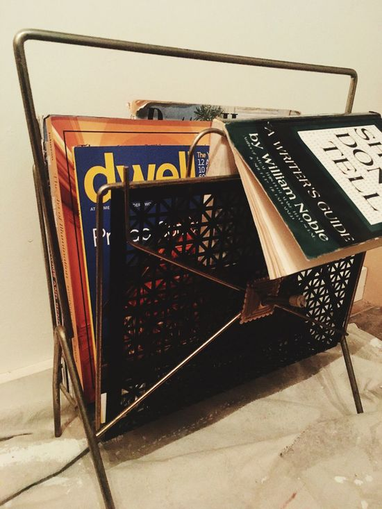 Magazine Rack Magazines Book 1950s 1960s Show Don't Tell Text Communication No People Indoors  Day