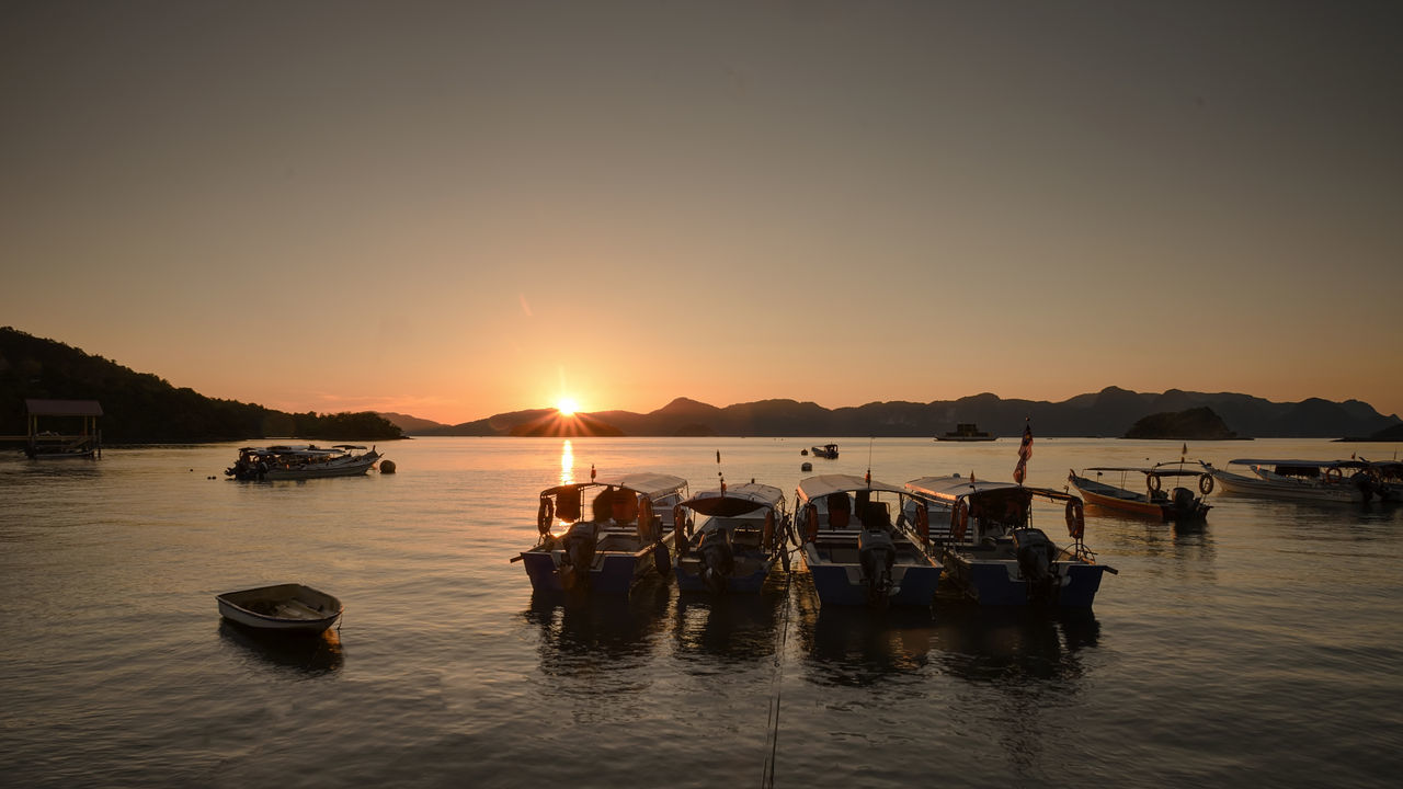 Transportation Nacture Outdoors Beach Sky And Clouds Lanscape Photography Tourist Destination Boats⛵️ Journey Sunset Silhouettes Tourism Langkawi Island Malaysia Holiday Trip Kedah Malaysia