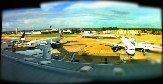 Boarding at North Terminal Departures Boarding