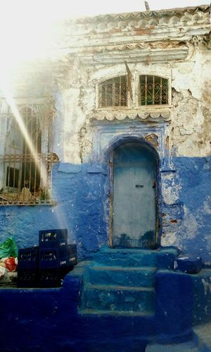 Chefchaouen Architecture Outdoors Day No People Door Detail Sunshine ☀