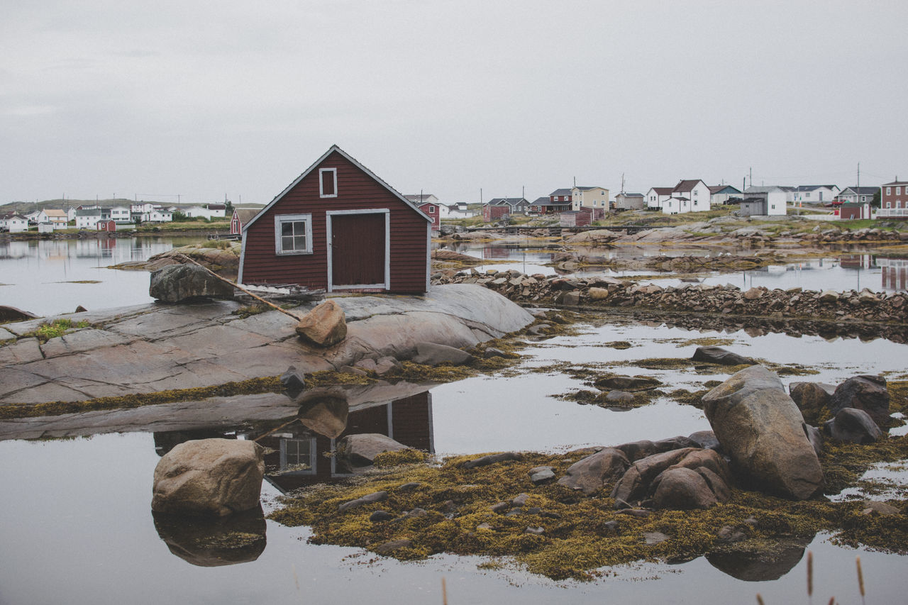 Engineering challenge Architecture Built Structure Canada Day Fogo Island Gloomy House Nature Newfoundland No People Outdoors Stones & Water Travel Travel Destinations Water Water Reflections Waterfront