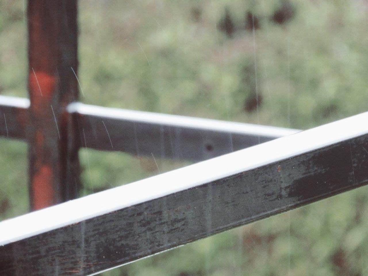 Rainfall Seen Through Glass Window